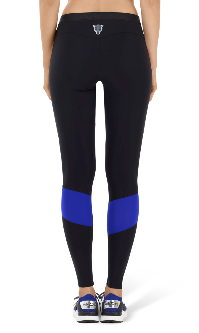 fitwear leggings with striped design