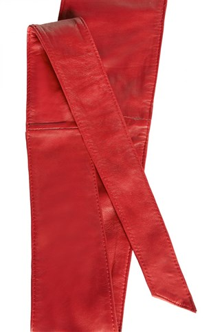 lambskin-tie-belt