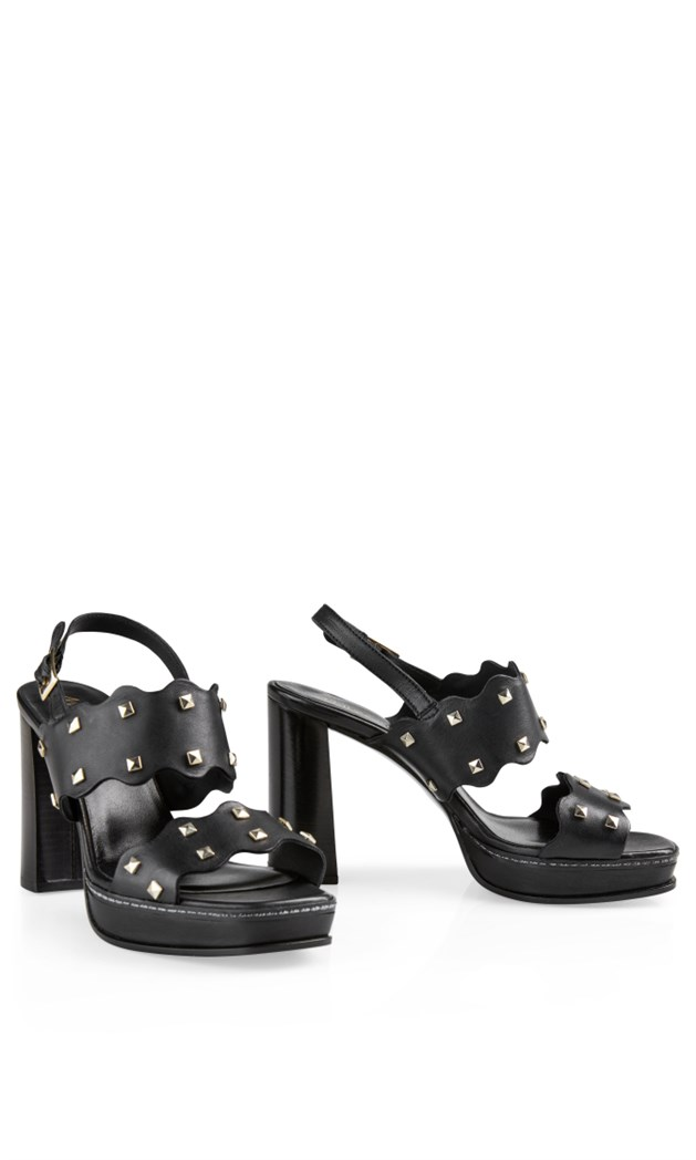 platform sandals with rivets